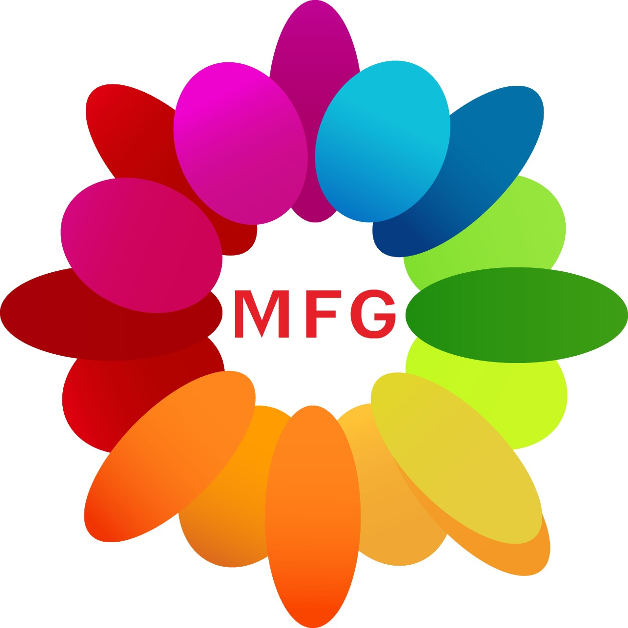 7 white lilies in glass vase